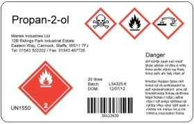 2 colour GHS label